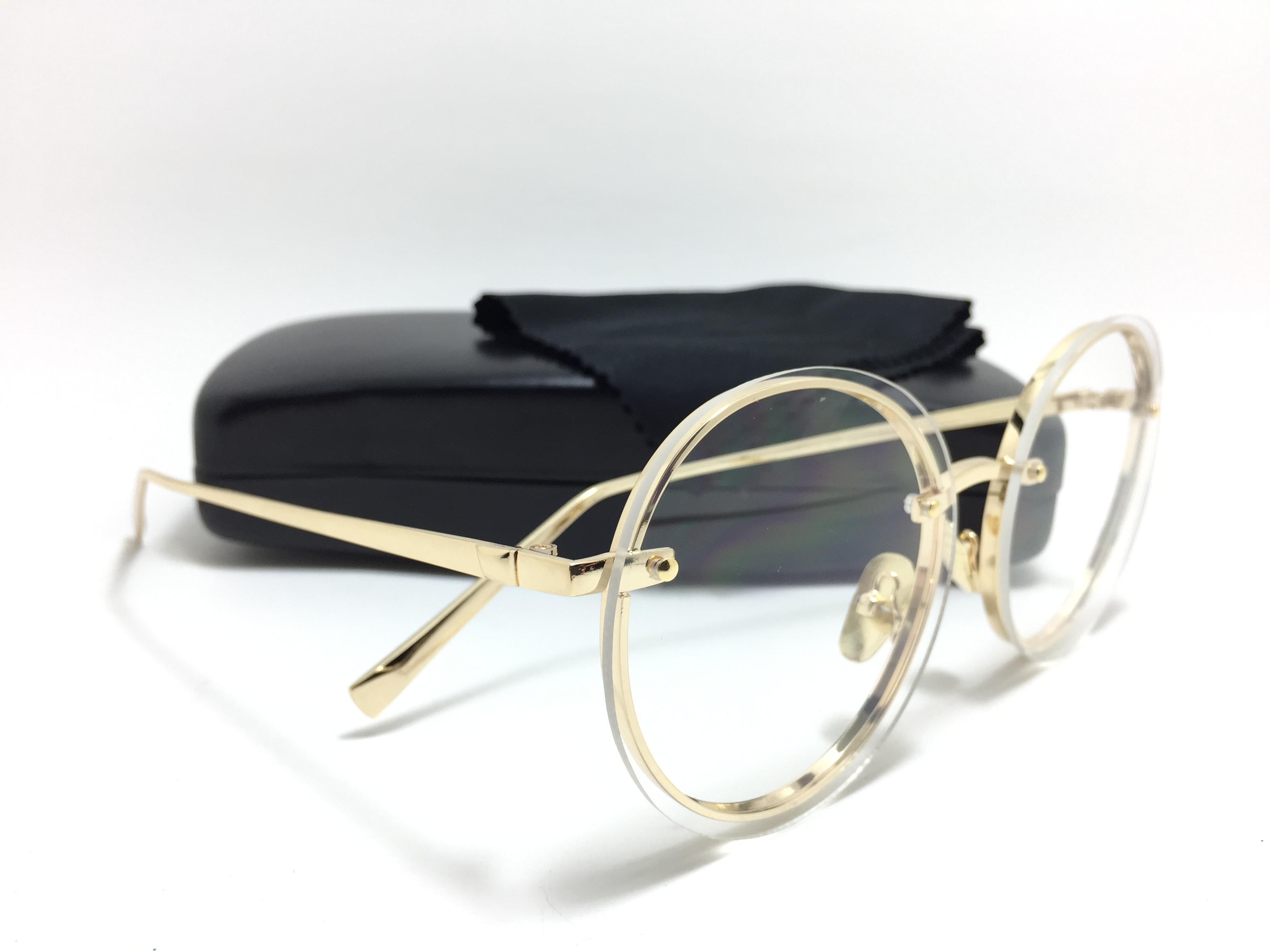 แว่นกันแดดแฟชั่น Gold Frame Transparent Sheet OF 8294 66-15 126 <ใส>