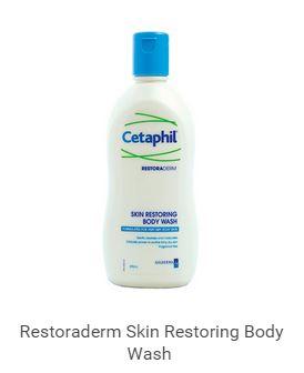 ครีมอาบน้ำสูตรผิวแพ้ง่าย Cetaphil RestoraDerm® Body Wash 295 ml (Eczema Calming Body Wash)