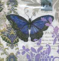 กระดาษแนปกิ้น เดคูพาจ 7727 butterfly and flower