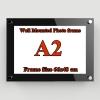 A2 กรอบรูปอะครีลิค ติดผนัง สีดำ - A2 Acrylic Wall Mounted Photo Frame.