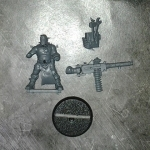 Chaos Cultists with Heavy Stubber DV single