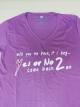 เสื้อยืด Yes Or No 2 ม่วง ไซส์ L