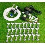 SAVE SET 5 ชุดพ่นหมอก 25 หัวพ่นหมอกเนต้าฟิล์ม 0.6 mm. + สายพ่นหมอก 35 เมตร ( ใช้ได้ทั้งแบตเตอรี่และไฟบ้าน 220 โวลต์ )
