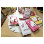 Hello Kitty Face Button Leather Card Wallet Cover Case For Galaxy Note 7