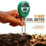 PH Moisture Meter เครื่องวัดค่า Soil Meter PH ความเป็นกรด-ด่างความชื้น และความสว่าง 3 in 1 Soil PH Meter