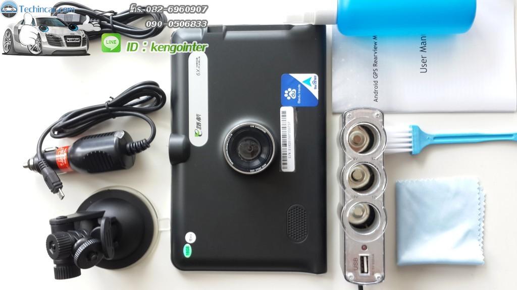 GPSนำทาง รุ่นGT888 16GB+AV-IN + กล้อง ระบบ Android CPU 2core 1.5Ghz 512DDRram 16GB memory + AV-IN