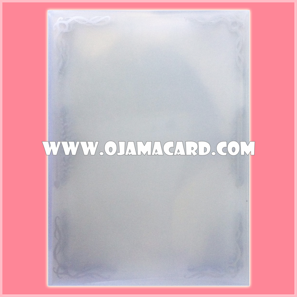 Standard Size Card Protector / Sleeve - Transpatent + Frame [Used] x60