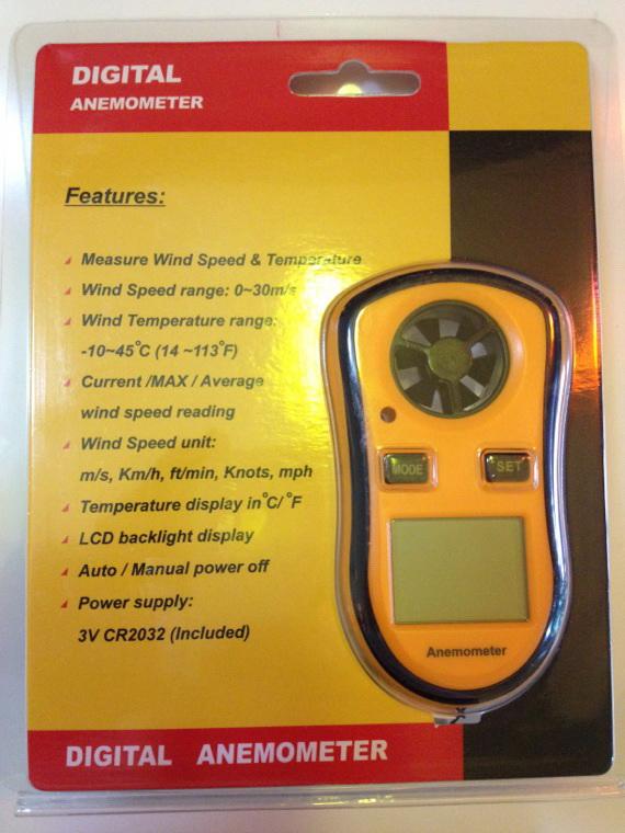 WM01-เครื่องวัดความเร็วลมและอุณหภูมิ Wind Speed Anemometer