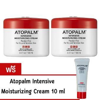 แพ็คคู่ Atopalm Intensive Moisturizing Cream 100 ml/กระปุก (2 กระปุก) (ฟรี Atopalm Intensive Moisturizing Cream 10 ml.)