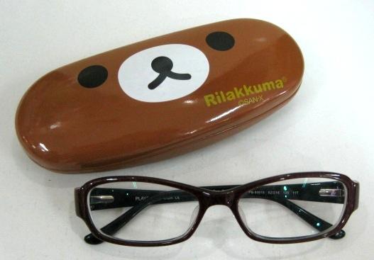 Rilakkuma กล่องแว่นตา แบบหนังอย่างดี