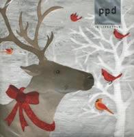 p-7497 แนพกิ้น33 christmas deer