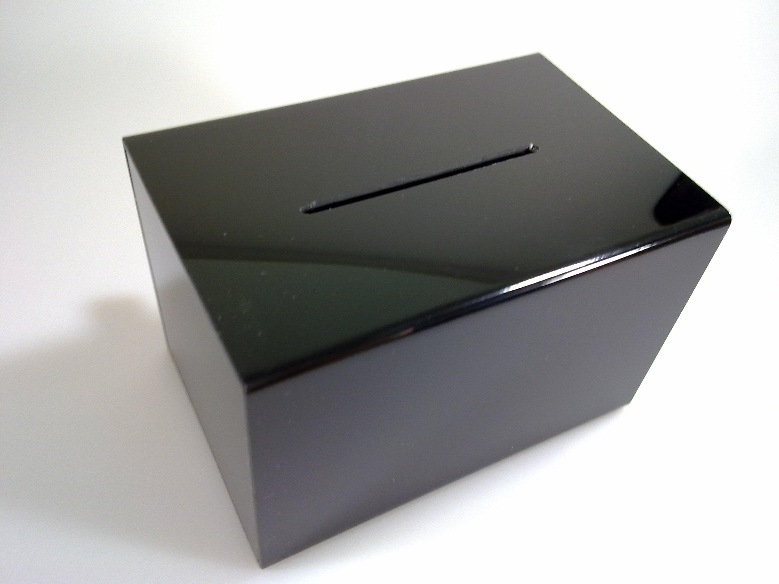 กล่องทิป สีดำ size M 20cm ***ผลิต 7 วัน (กล่องรับบริจาค กล่องแสดงความคิดเห็น)