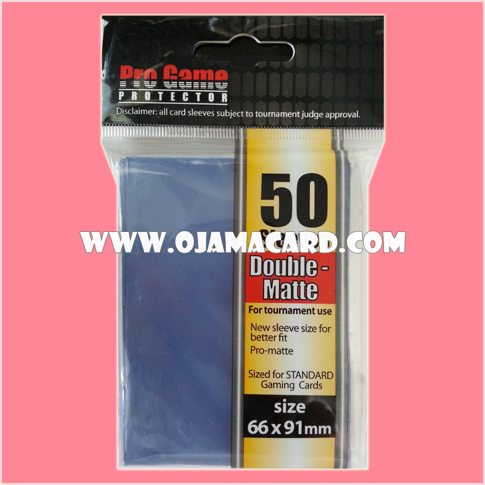 Pro Game Protector Sleeve Double-Matte : Blue 50ct.