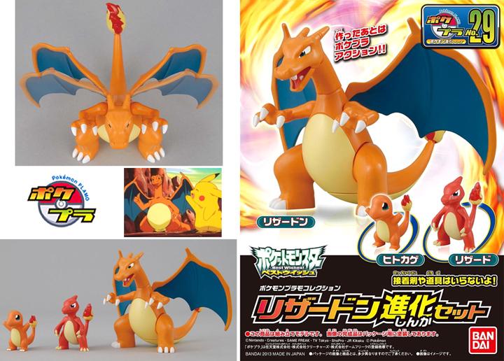 Pokemon Plamo No.29 Lizardon Evolution Set
