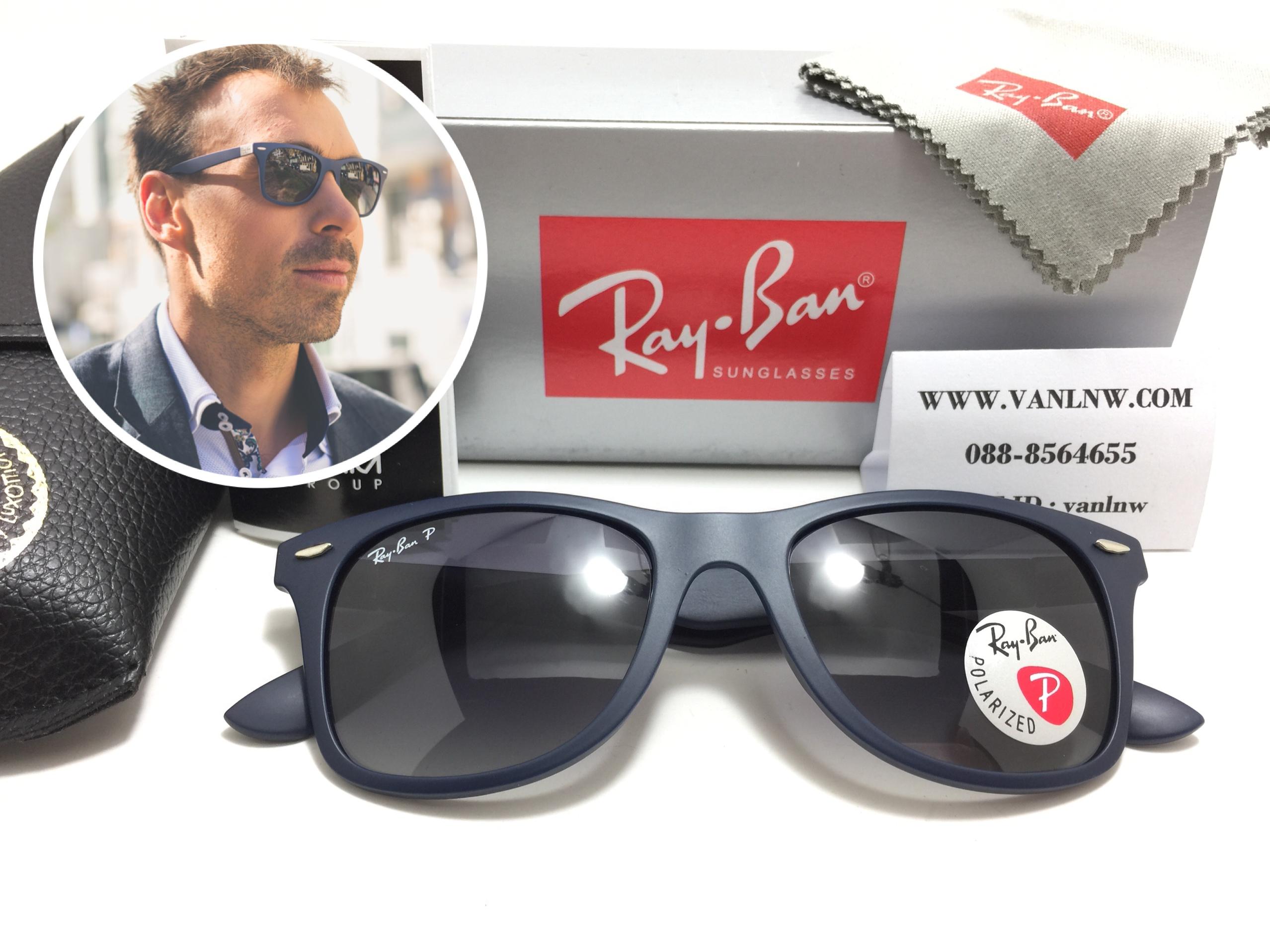 แว่นกันแดด RB 4195 Wayfarer Liteforce 6015/8G 52-20 3P <Polarized>