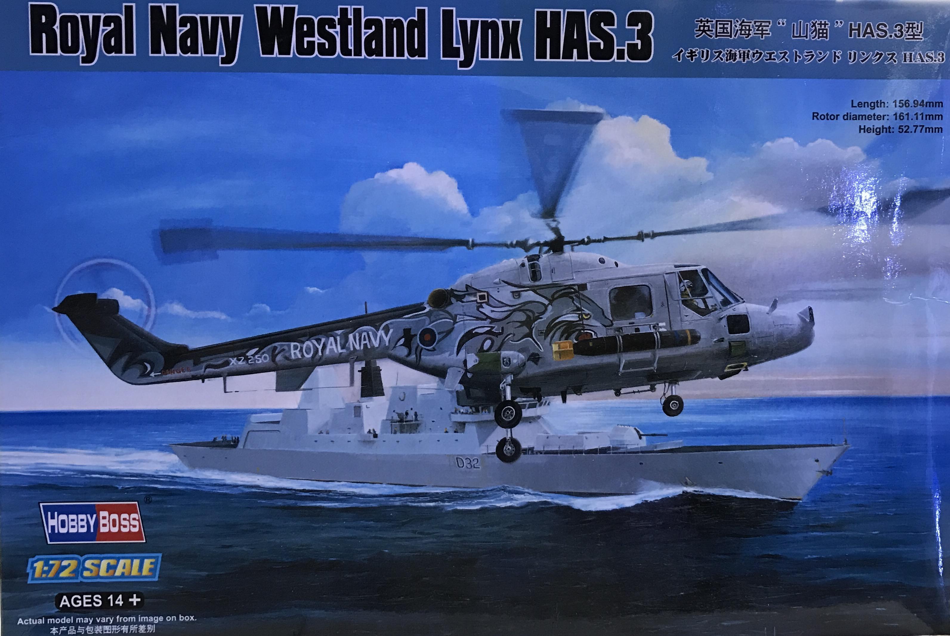 1/72 Royal Navy Westland Lynx HAS.3 [Hobby Boss]