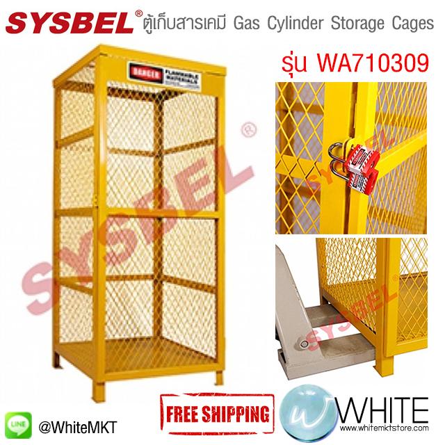 ตู้เก็บสารเคมี Gas Cylinder Storage Cages รุ่น WA710309