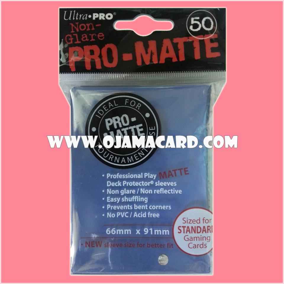 Ultra•Pro Pro-Matte Standard Deck Protector / Sleeve - Blue 50ct.