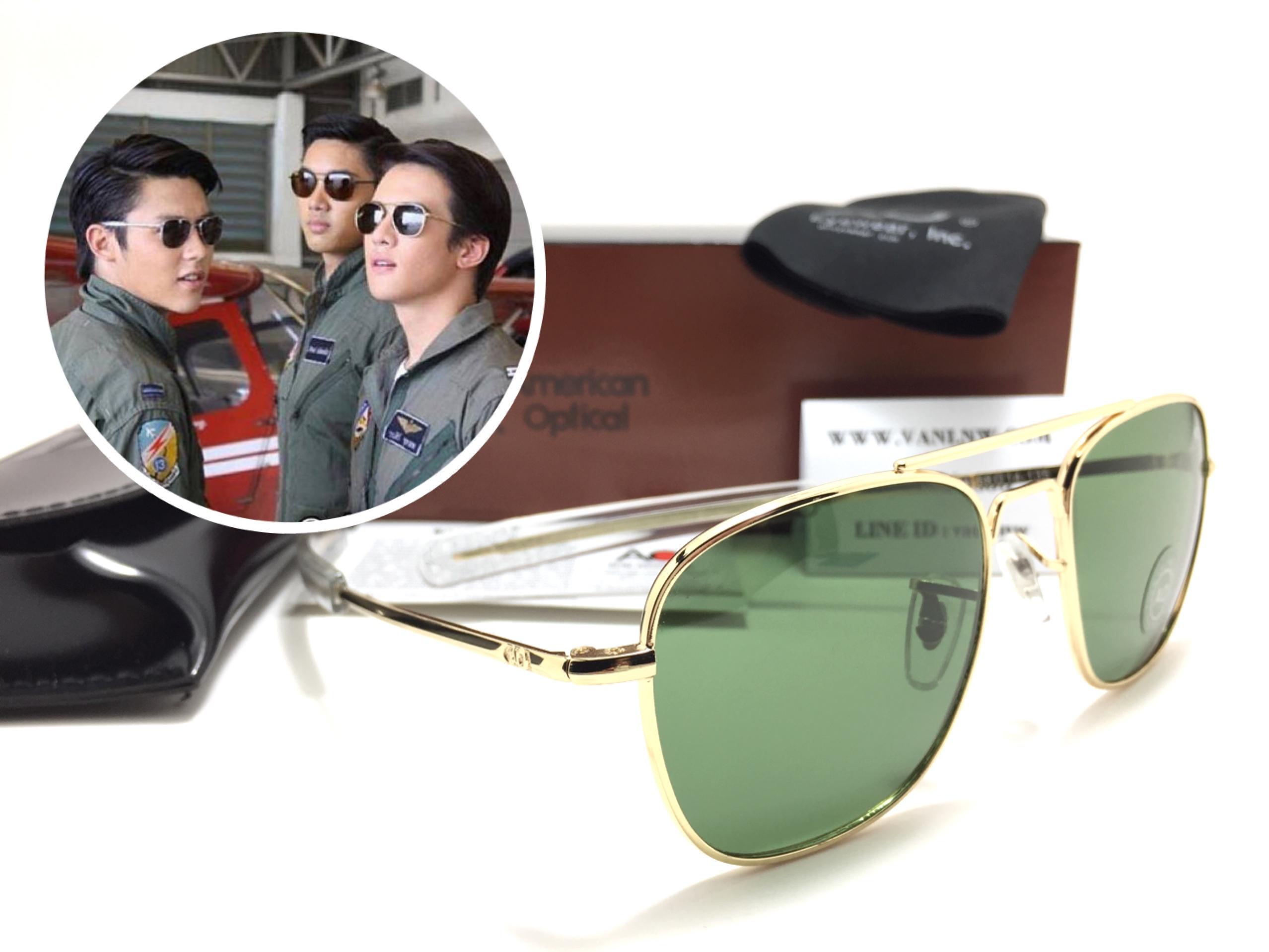 แว่นกันแดด ao skymaster 58-14-135 24KGP (china) ทอง