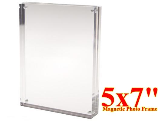 กรอบรูปอะครีลิคตั้งโต๊ะ แบบแม่เหล็กประกบ ขนาด 5x7 นิ้ว 10 ชิ้น