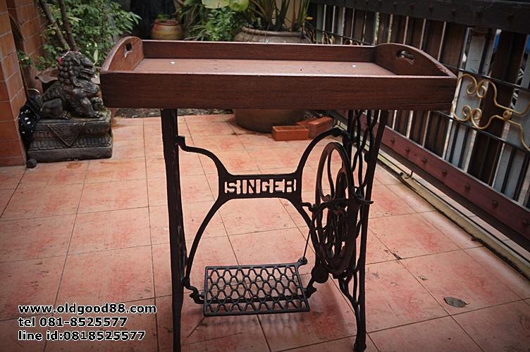 โต๊ะขาจักรsinger สำหรับ เครื่องดื่ม-อาหาร รหัส131160ts