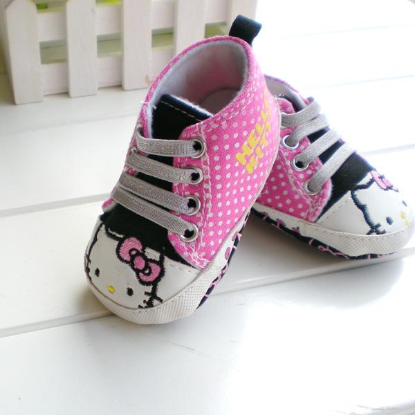 BE2018 (Pre) รองเท้าผ้าใบ Hello Kitty (0-1 ขวบ)