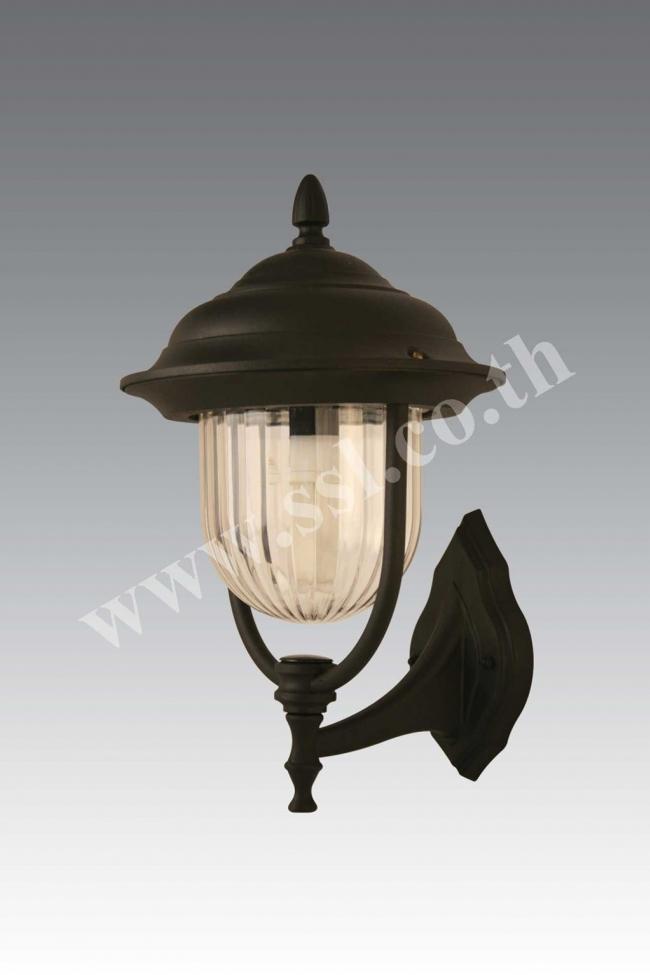 โคมไฟผนังนอกบ้าน SL-10-5002W-BK-PC