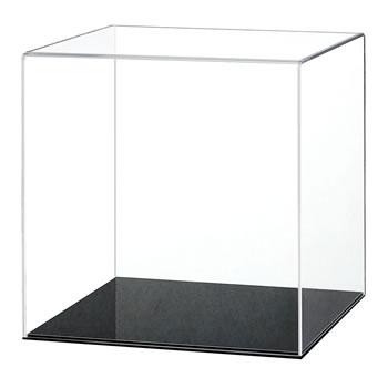 10x10x10cm. กล่องโชว์โมเดล ด้านเท่า ฐานสีดำ