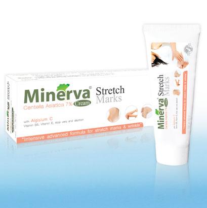 Vitara Minerva Stretch Mark 50 gm มิเนอร์ว่า เสตรท มาร์ค ครีม รักษาท้องแตกลาย ขาแตกลาย บำรุงผิวให้เนียนนุ่ม