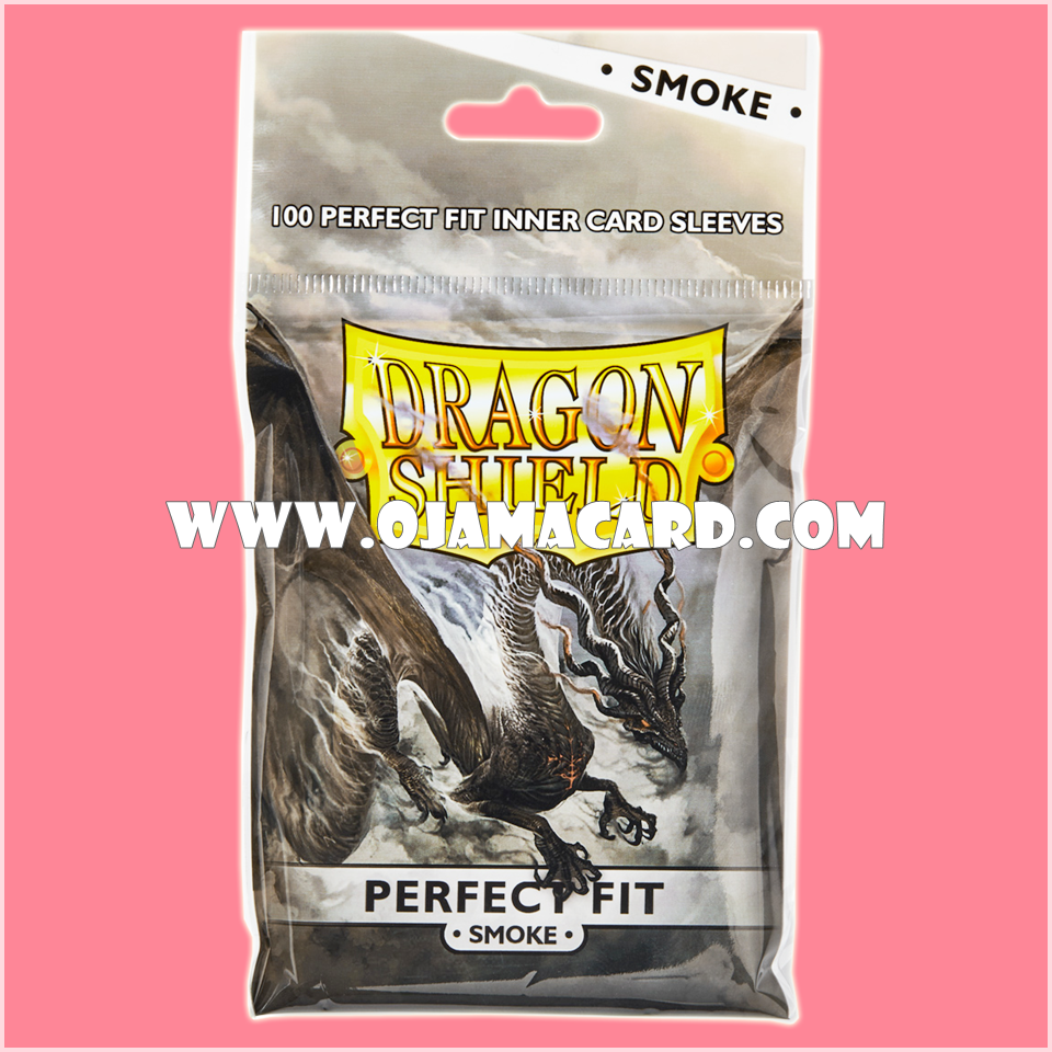 Dragon Shield Perfect Fit Toploader Standard Size Inner Card Sleeves - Smoke 100ct.