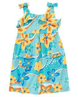 เดรส Crazy 8 Ruffle Floral Knit (blue)