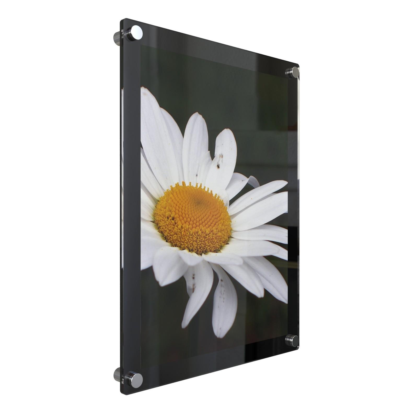 A0 กรอบรูปอะครีลิค ติดผนัง 123x90ซม.สีดำ Black Acrylic Wall Mounted Photo Frame 123x90cm.(for A0)