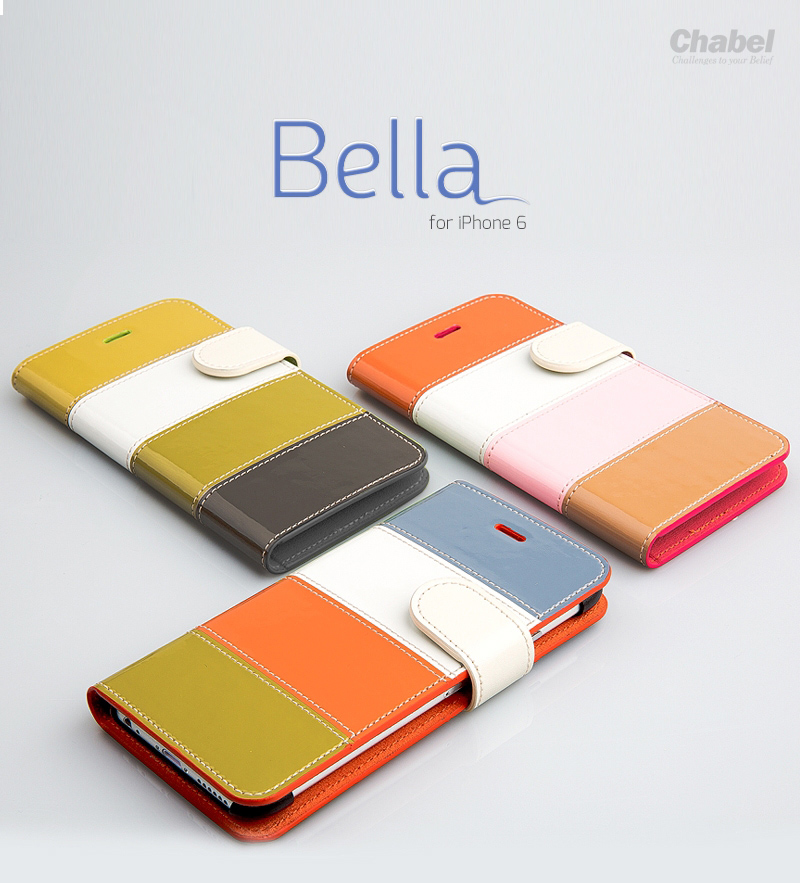 Hanton : Bella Leather Color Diary Plain Case Hard Plastic for Apple iPhone 6 (4.7inch)