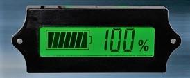 ้เครื่องวัดค่าความจุแบตเตอรี่ 12V / 24V