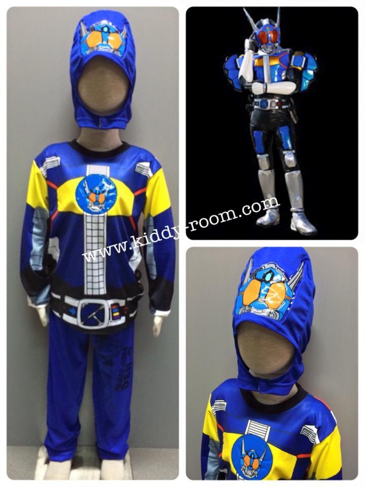 Masked Rider Den-O Rod Form (งานลิขสิทธิ์) ชุดแฟนซีเด็กมาสค์ ไรเดอร์ เดนโอ ในร่างของร็อด ฟอร์ม 3 ชิ้น เสื้อ กางเกง & หน้ากาก ให้คุณหนูๆ ได้ใส่ตามจิตนาการ ผ้ามัน Polyester ใส่สบายค่ะ หรือจะใส่เป็นชุดนอนก็ได้ค่ะ size S, M, L, XL (สำหรับน้องประมาณ 3-8 ปี)