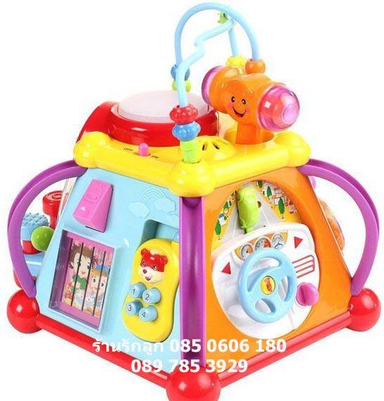 กล่องกิจกรรม 6 ด้านเล่นได้ 15 อย่าง Activity Little Joy Box