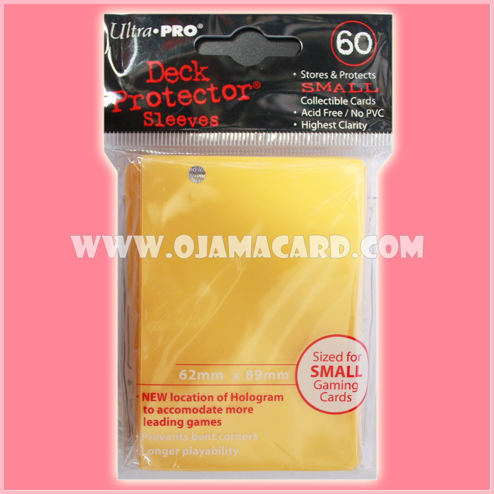 Ultra•Pro Small Deck Protector / Sleeve - Yellow 60ct.