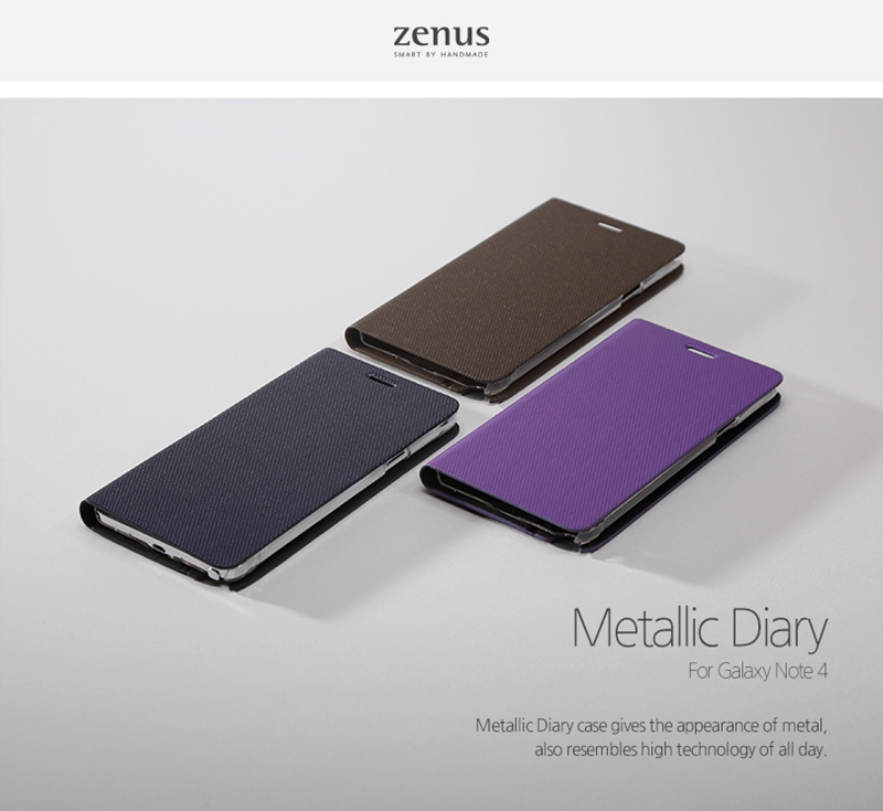 Zenus : Metallic Diary Synthetic Leather Cover Case For Galaxy Note 4