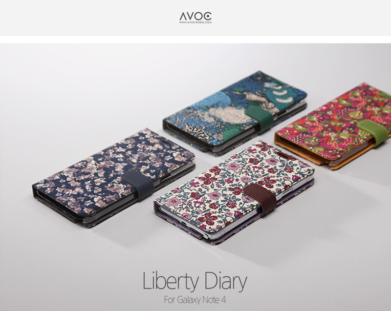 Zenus : Avoc Liberty Diary Synthetic Leather Cover Case For Galaxy Note 4