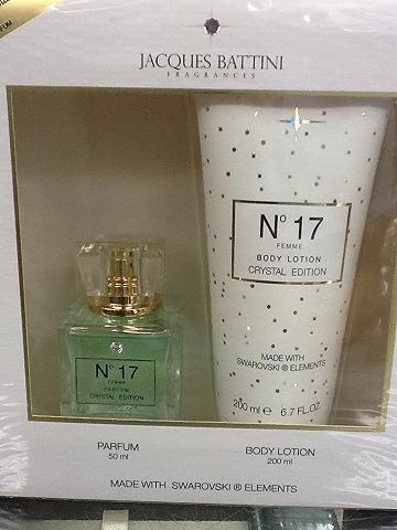 น้ำหอม Jacques Battini Fragrance No 17 Parfum Crystal Edition Gift Set Made with Swarovski Elements