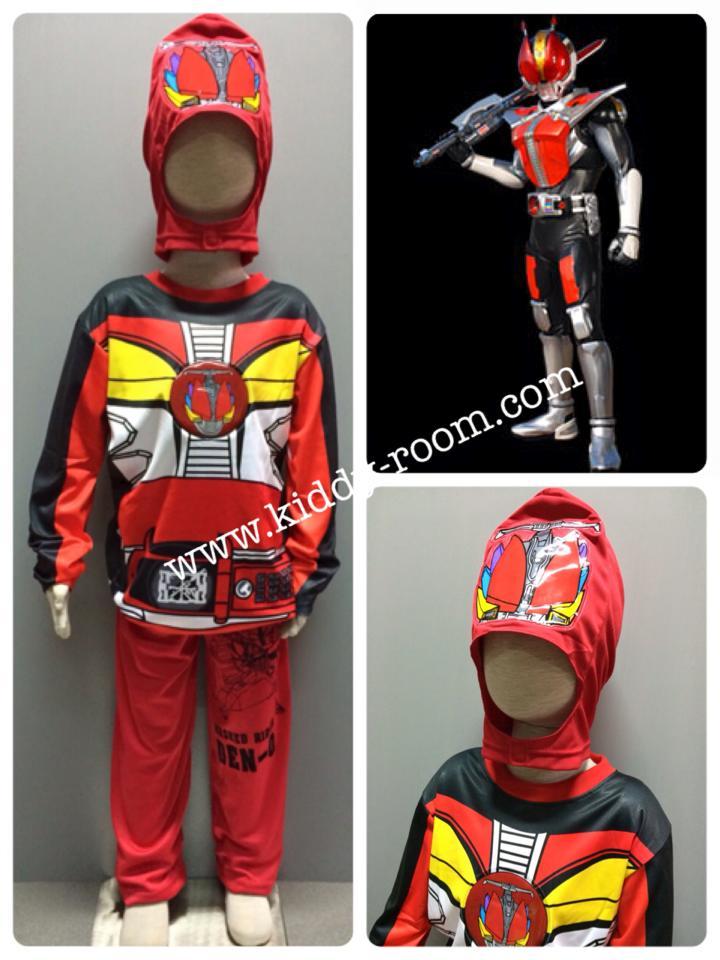 Masked Rider Den-O Sword Form (งานลิขสิทธิ์) ชุดแฟนซีเด็กมาค์ส ไรเดอร์ เดนโอ ในร่างของซอร์ด ฟอร์ม 3 ชิ้น เสื้อ กางเกง & หน้ากาก ให้คุณหนูๆ ได้ใส่ตามจิตนาการ ผ้ามัน Polyester ใส่สบายค่ะ หรือจะใส่เป็นชุดนอนก็ได้ค่ะ size S, M, L, XL (สำหรับน้องประมาณ 3-8 ปี)