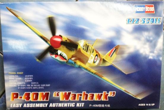 "1/72 P-40M ""Warhawk"""
