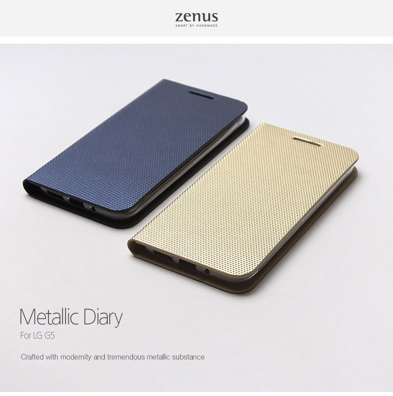 Zenus : Metallic Diary Case Cover For LG G5