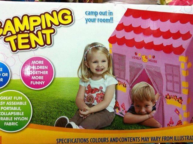 เต๊นบ้านกระต่ายน้อยของเด็กเล่น สีชมพูหวาน