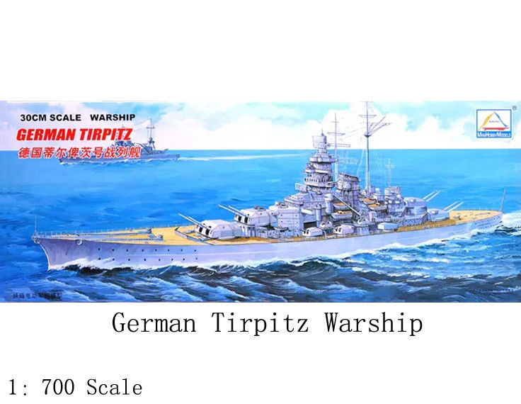 30CM Scale Warship World War II German TIRPITZ Battleship