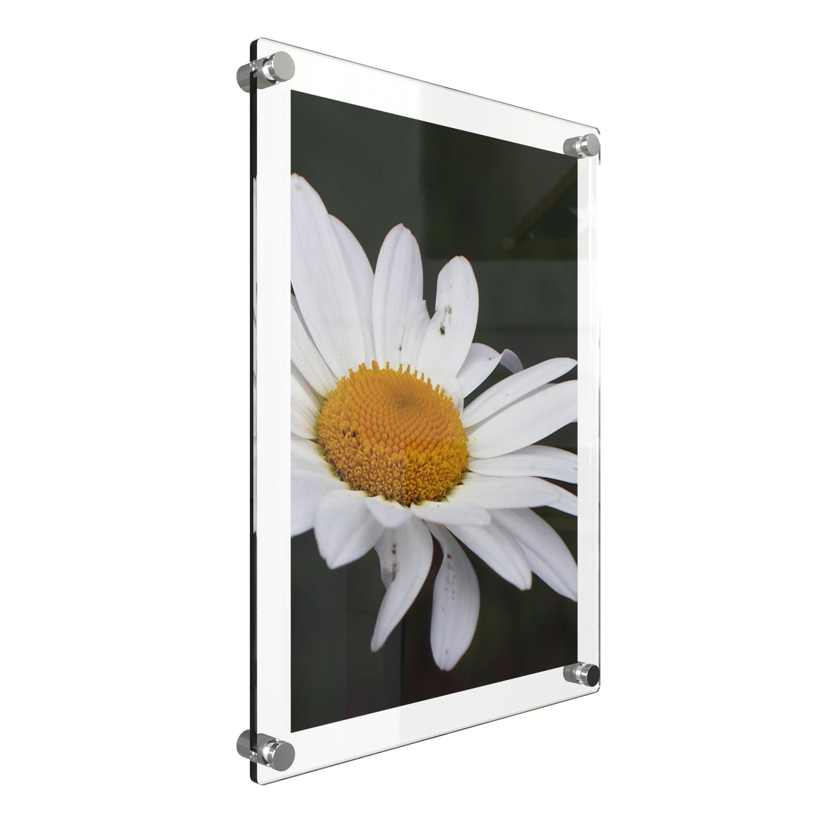 A0 กรอบรูปอะครีลิค ติดผนัง 123x90ซม. Acrylic Wall Mounted Photo Frame 123x90cm.(for A0) 5+3 Mm