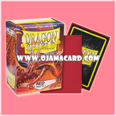 Dragon Shield Standard Size Card Sleeves - Red • Matte 100ct.