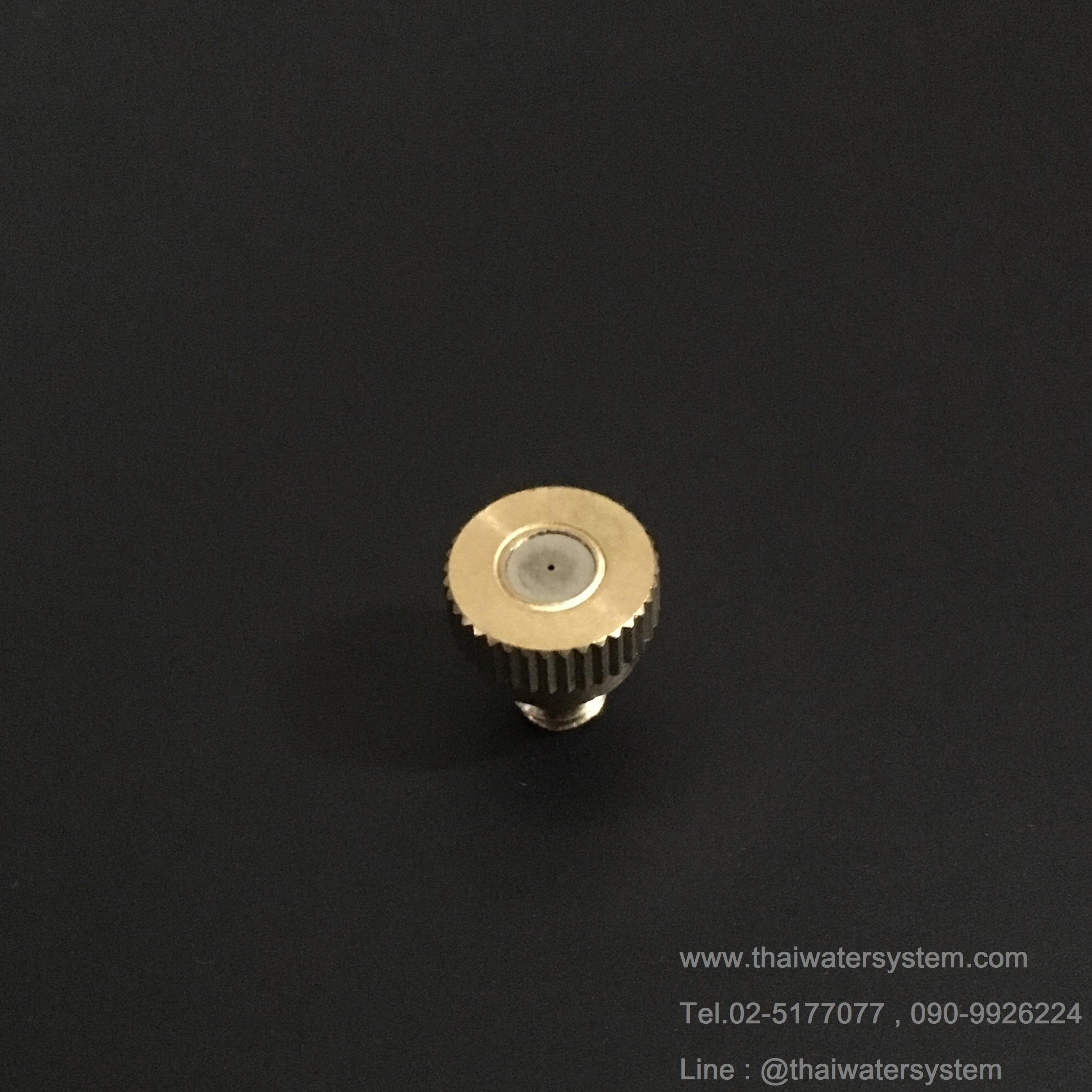 หัวพ่นหมอกกระดุมมีความละเอียด 0.2 mm.
