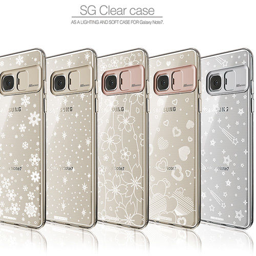 SG LED Lighting Flash Clear Jelly Case For Galaxy Note 7