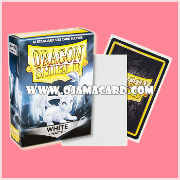 Dragon Shield Small Size Card Sleeves - White • Matte 60ct.